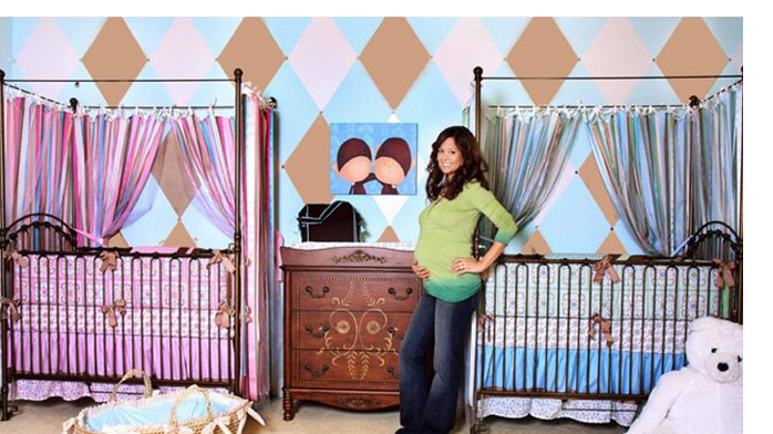 Check Out Brooke Burke 39 S Nursery For Twins Namely Newborns